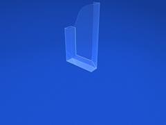 Держатель настенный, объемный, вертикальный 1/3 А4 со скотчем