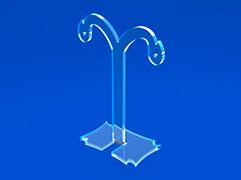 Подставка настольная объемная, вертикальная на 2 отделения 1/3 А4
